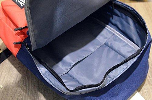 Beauty Top Zaino Donna Tela Borsa Tracolla Vintage Casual Zaini Neutral Cartella Schoolbag Zaino Gripesack Borsa a mano Bookbag Borsetta Trave Zainetto Blu