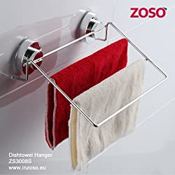 Zoso Super Power Suction Cup Products: Dishtowel Hanger