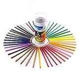 Marco Crayons de couleur solubles d'eau de, ensemble de 48 couleurs avec le stylo de mélange, favorables à l'environnement, grands pour des débutants, étudiants