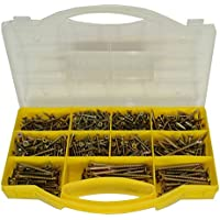 780pc Assorted Pozi Drive Chipboard And Wood Screws Countersunk Bits 3 – 5mm