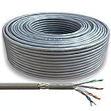 CAT.7 Verlegekabel SFTP Datenkabel 100m, 8 Adern, je Durchmesser 0,59 mm echtes Kupfer Netzwerkkabel CAT7 M&G-Techno - Herstellerqualität