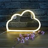 White Cloud LED Wall Light Neon Lamp Night Light, Festival Wedding Children Bedroom Decorative LED Neon Sign