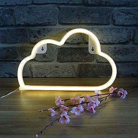 White Cloud LED Wall Light Neon Lamp Night Light, Festival Wedding Children Bedroom Decorative LED Neon