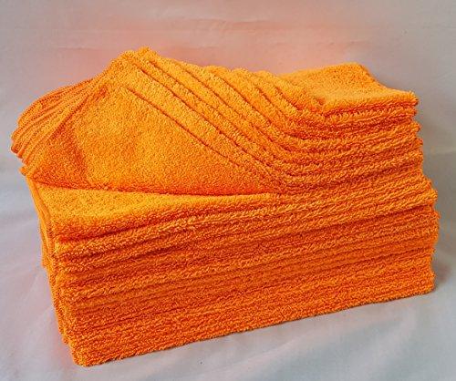 Clean 2 Microfasertuch Orange 24 er Pack,40 X 40 Microfasertücher 320g Mikrofasertuch