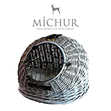 Michur Cosma Grey 2.0 carrier cave bed for dogs...