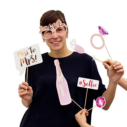 Oblique Unique® 10 Stück Foto Props Braut Hochzeit Junggesellinnenabschied Masken Fotorequisiten Partydekoration