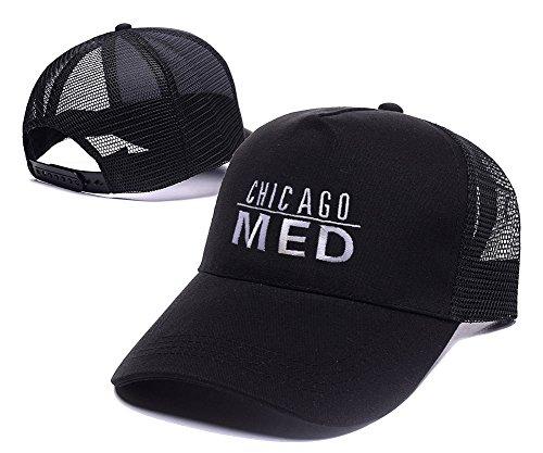 Sianda Chicago Med Logo Baseball Snapback Cappello Mesh