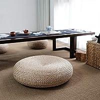 Style Japonais Tricot Paille Coussin Pouf Paissir Artisanal De Sige Plat Chaise