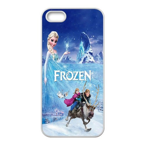 Frozen Coque Étui de protection en silicone TPU Coque avec Screen Protector, Mobile Phone Case Back Cover pour Iphone 5S Blanc Noir for iPhone 55S (White/Black)