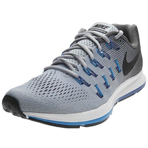 Nike Air Zoom Pegasus 33 (N), Zapatillas de Running para Hombre, Gris (Wolf Black-Dark Grey-Photo Blue), 42 EU