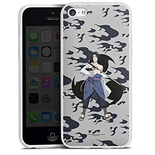 DeinDesign Silikon Hülle kompatibel mit Apple iPhone 5c Case Schutzhülle Naruto Shippuden Sasuke Sharingan (5c Naruto Case Iphone)