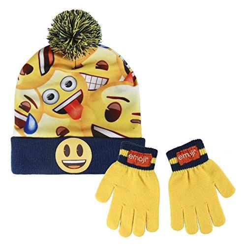 (Cerdá Jungen Mütze, Schal & Handschuh-Set Emoji, Gelb (Amarillo 001), One Size (Herstellergröße: única))