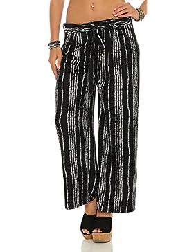 Pantalón pantalones de ocio de verano pantalones de campana a rayas pantalones de pierna ancha HC701
