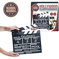 Global Gizmos–estilo Retro Classic Mini pizarra Clapper Film Movie 20x 20cm Memo Junta. Acción, Negro, 21x 3x 21cm