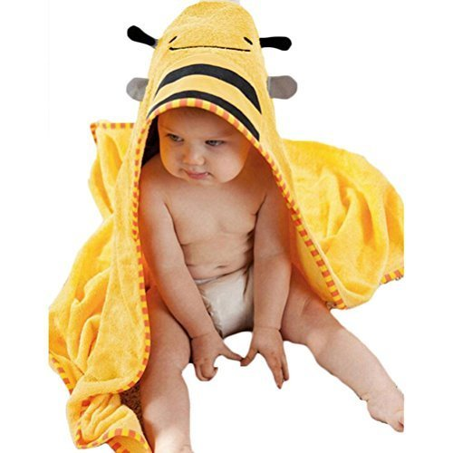 Buytra Kinder Kapuzenhandtuch Tier Formen mit Kapuze - Biene, Baumwolle