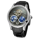 Forsining pour homme Marque Mouvement automatique boîtier en acier inoxydable Cadran carte du monde montre bracelet Fsg9413m3s1