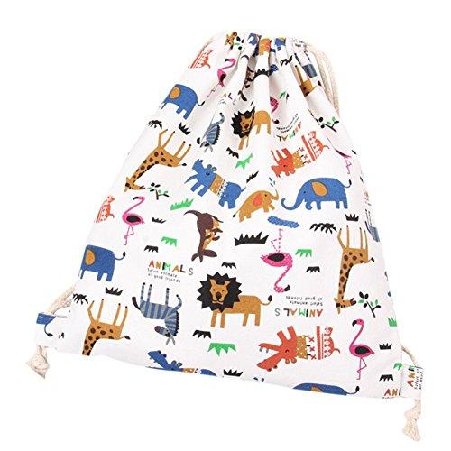 weimay OLONA Sport tasche Zaino Gym Sacco sacca animali cartoon sacchetto Sport, Borsa a spalla con cordino borsa per viaggi/Sport/Scuola