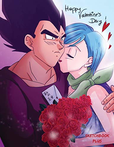 Sketchbook Plus: DBZ Valentine's Day: 100 Large High Quality Sketch Pages (Vegeta and Bulma)