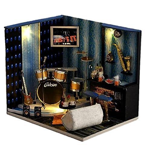 Holz Puppe Haus Mini Haus Möbel Kit diy König der Nacht Handwerkliche hölzerne Miniatur Haus Puppen Zimmer Geschenk