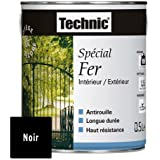 Peinture Spécial Fer - Noir Brillant - 0.5 L - TECHNIC 124578D