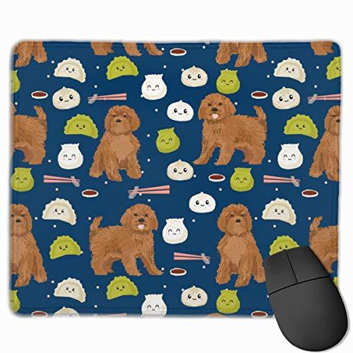 Ruby Cavoodle Cavapoo Dog Breed Dim Sum Mousepad 18x22 cm