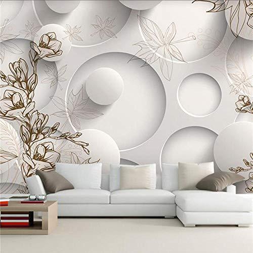 LWATML 3D Tapeten Continental Minimalistischen Wohnzimmer Tv Hintergrundbild 3D Stereo Nahtlose Art-Deco-Tapete Schlafzimmer Wandbild Tapete-400X280Cm
