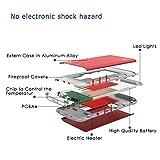 BigBlue 3 in 1 USB aufladbarer Handwärmer 6000 mAh Powerbank mit LED Taschenlampe, in Rot -