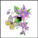Fliesenaufkleber Fliesentattoos für Bad & Küche - NUR FÜR WEIßE FLIESEN - weißes Viereck als Hintergrund - Küchenfliesen für einzelne Fließen 10x10 cm - ME014 - Schön Blumen