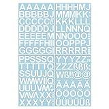 Skittz-Werbetechnik - Lettere adesive Lucide da 4 cm, Facili da Applicare, 150 Lettere adesive di Alta qualità, da incollare, Resistente all'Acqua e agli Agenti atmosferici, Ideale per Esterni