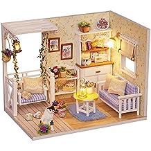 CUTEBEE Miniatura de la casa de muñecas con Muebles, Equipo de casa de muñecas de
