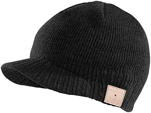 Preisvergleich Produktbild Callstel Mütze Bluetooth: Beanie-Schildmütze inkl. integriertem Headset mit Bluetooth,  schwarz (Beanie-Mütze,  Bluetooth)