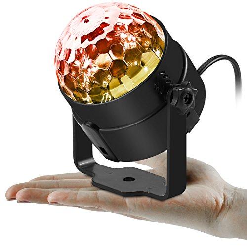 Missyee® Mini Disco Licht DJ Licht Partylicht Bühnenbeleuchtung RGB kristall Magic Ball Lichter Wirkung Bühnenlicht Für KTV Xmas Party Hochzeit Zeigen Club Pub Farbe Weihnachten Beleuchtung mit Fernbedienung(1pack) - 2