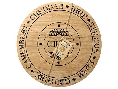 Creative Tops Käsebrett, rund, Holz, mehrfarbig - 3