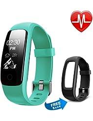 Fitness Tracker HR, Letsfit Fitness Armband mit Pulsmesser,IP 67 Wasserdicht smart Aktivitätstracker Schrittzähler, Kalorienzähler Sport Uhr Fitness Uhr für iOS und Android