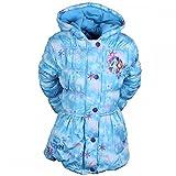Frozen Die Eiskönigin ELSA Mädchen Winterjacke Mantel Parka Kapuze blau (92)