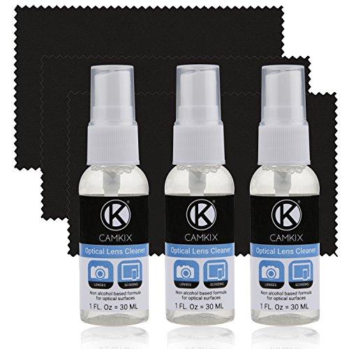 Kit Pulizia Lenti e Schermo 3x spray prudente 3x panno microfibra