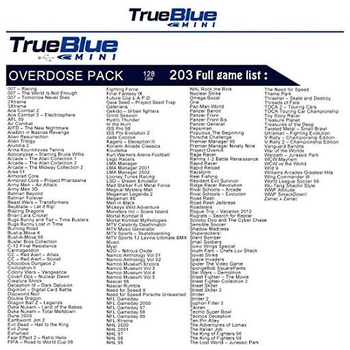 Rolanli-True-Blue-Mini-Overdose-Pack-fr-Playstation-Classic-mit-203-Spiele-128GB