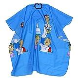 Frcolor 1 pc Professionnel Enfants Barbiers Coiffeur Coiffure Imprimé Étanche Non-Collant Coupe De Cheveux Robe Tissu Cape