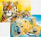 Ravensburger 09664 Eisbär / Tiger, 60 Teile Hologramm-Puzzle