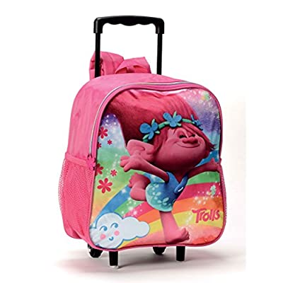 0fefc3f8b479 A gnome with a laptop on snow printed kid s blue backpack