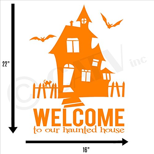 lloween-Schriftzug Welcome to Our Haunted House, Vinyl 16