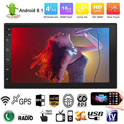Android 7.1 WIFI Reproductor de MP3 MP5 con radio 2DIN doble, GPS...