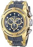 Invicta Bolt/Reserve Homme 51mm Bracelet Caoutchouc Boitier Acier Inoxydable Plaqué Or Quartz Montre 14407