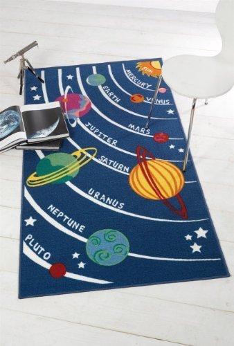 Flair Rugs - Alfombra diseño Planetas niños, 100