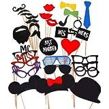 31 PCS Photo Booth Props Accessori labbra con Stick giocattolo per Matrimonio Compleanno Festa Gesso Lavagna Scrivi sulla