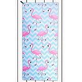 DecoKing 43325 Strandtuch 80x180 cm Mikrofaser kühlend schnelltrocknend leicht saugstark Flamingo Badetuch Duschtuch Sporthandtuch Reisehandtuch weiß rosa blau Minze White pink Blue Mint Paradise