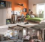 Jugendzimmer Kinderzimmer KARIBIK komplett Set A Schrank Bett 90x200 mit Schublade Schreibtisch NEU