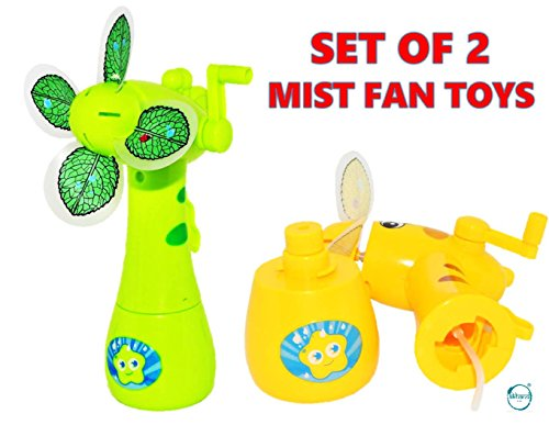 Akhand Hand Mist Spray Fan Toy for Kids with Water Tank, Multicolor (Set of 2 )