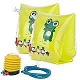 Eozy Tiere Schwimmflügel Kinder Armband Schwimmhilfe Kleinkind Aufblasbar Schwimmen Lernen Frosch