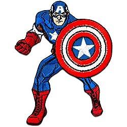 Toppe termoadesive - AVENGERS Captain Americacomico bambini - blu - 7x8,5cm - by catch-the-patch® Patch Toppa ricamate Applicazioni Ricamata da cucire adesive